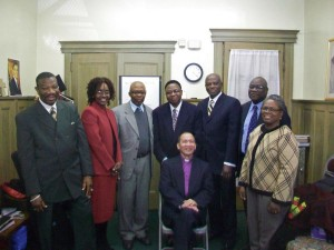 Deacons with Pastor Tingson