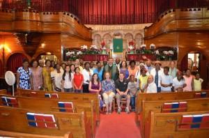 Peddie Church with Rev Spitzer